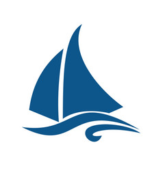 Sailing ship or yacht logo design vector