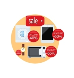 Sale and discount concept vector