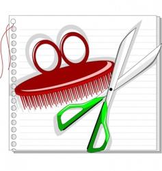 scissor vector image vector image