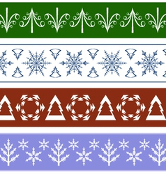 Seamless Christmas Ornaments vector image
