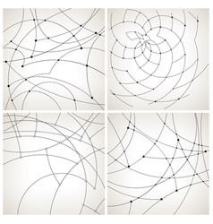 Set of monochrome geometric backgrounds vector