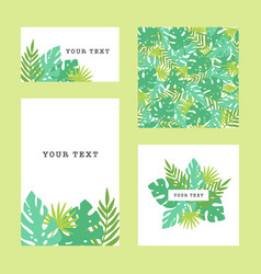 Set of tropical template goods vector
