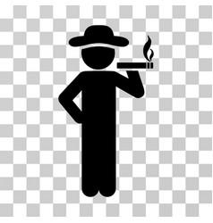 Smoking gentleman icon vector