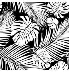 strelitzia palm pattern vector image vector image
