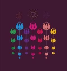 Tulip design vector