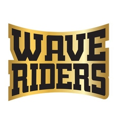 Wave riders t shirt typography vector image vector image