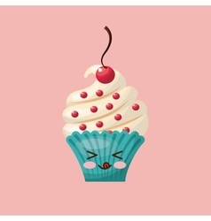 Sweet cupcake icon design vector