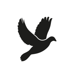 Simple flying dove side silhouette icon style vector