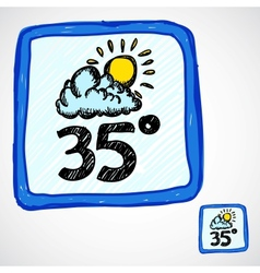 Doodle style weather icon vector