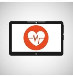 technology heart medical social media design vector image