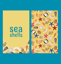 Sea shells flyers or brochures vector
