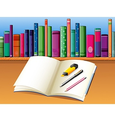 Study books stationery vector
