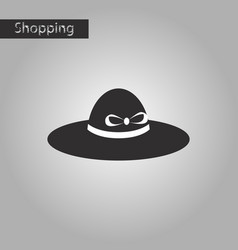 black and white style icon women hat vector image
