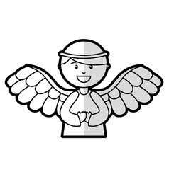 Cute angel manger character vector