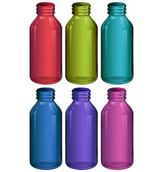 Medicine bottles on a white background vector