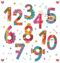 Numbers design vector image