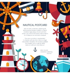 Vintage flat design modern nautical marine post vector