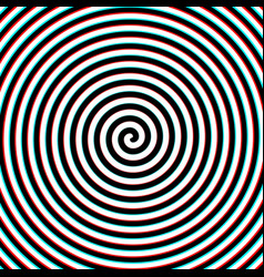 3d effect hypnosis spiral vector