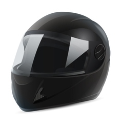 Black motorcycle helmet vector