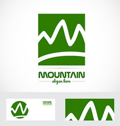 Abstract mountain logo vector