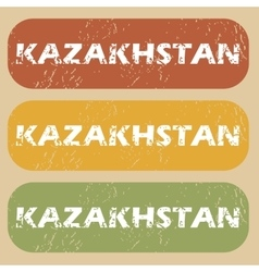 Vintage kazakhstan stamp set vector