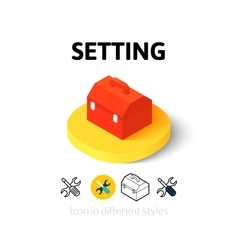 Setting icon in different style vector