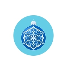 Colorful icon blue ball with snowflake vector