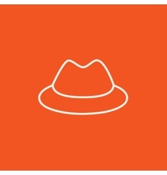 Classic hat line icon vector