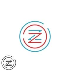Hipster letter Z logo monogram creative circles vector image