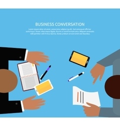 Business conversation concept vector
