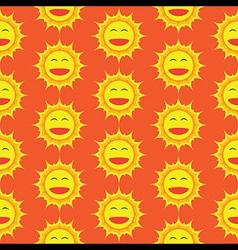 Happy sun cartoon seamless pattern vector