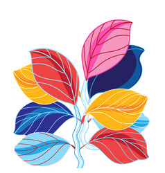 A beautiful colored leaves vector