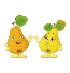 Character pears vector image vector image