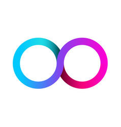 Colorful infinity business logo eternity concept vector