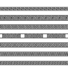 Different meander ansient element patterns line vector