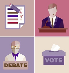 Election debates vector