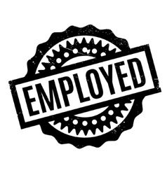 Employed rubber stamp vector