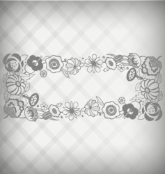 Floral nameplate vector