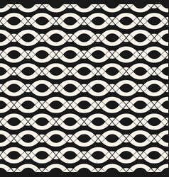 Geometric seamless pattern with ovals ropes vector