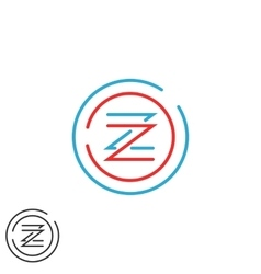 Hipster letter Z logo monogram creative circles vector image