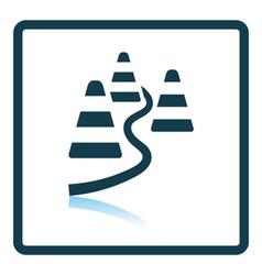 Icon of football training cones vector image