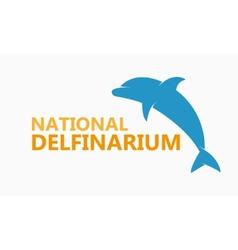 logo dolphinarium vector image vector image