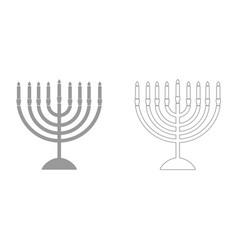 menorah for hanukkah it is icon vector image vector image