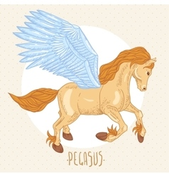 of winged pegasus vector image