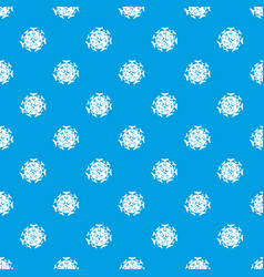 round viral bacteria pattern seamless blue vector image vector image