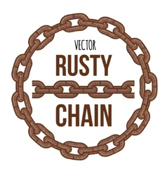 Rusty chain ring emblem logo vector