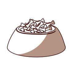 Shadow dog food in bowl vector