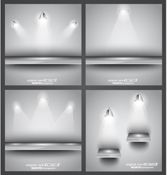 Shelf with spotlights vector