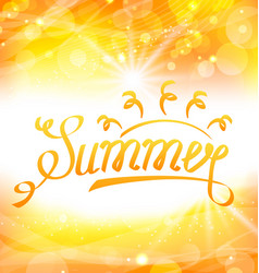 Summer abstract background with text lettering vector