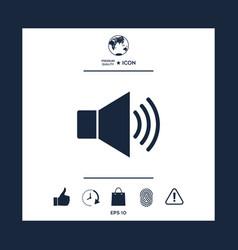volume web symbol icon vector image vector image